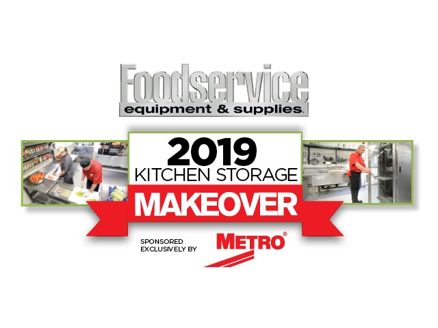 "Graphic reading, ""Metro and FES present the 2019 Kitchen Storage Makeover"""
